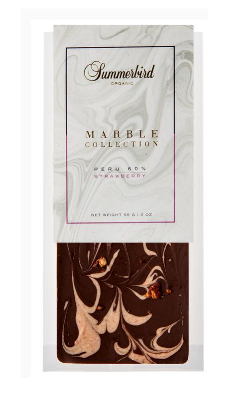 チョコレートバー(ペルー61%&ストロベリー)